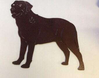 Metal Labrador Retriever Decoration
