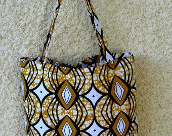 """Wo-Kaba 3 a tote bag in african fabric """"ankara/ wax style"""", beach bag, grocery pouch"""