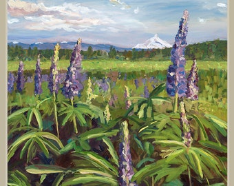6 Notecards - Lupine meadow in Central Oregon