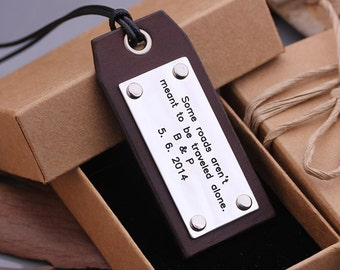 Custom Leather Luggage Tags - Hand Stamped Luggage Tags - Travel Luggage tag - Graduation Gift