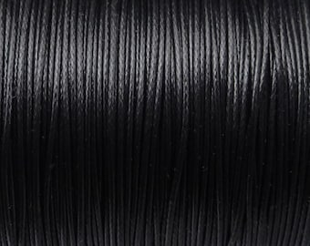 0.8mm waxed polyester cord, diameter 0.8mm, BLACK CORD