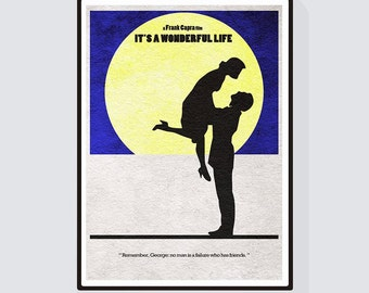 It's a Wonderful Life Minimalist Alternative Movie Print & Poster