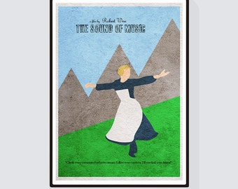 The Sound of Music Minimalist Alternative Movie Print & Poster
