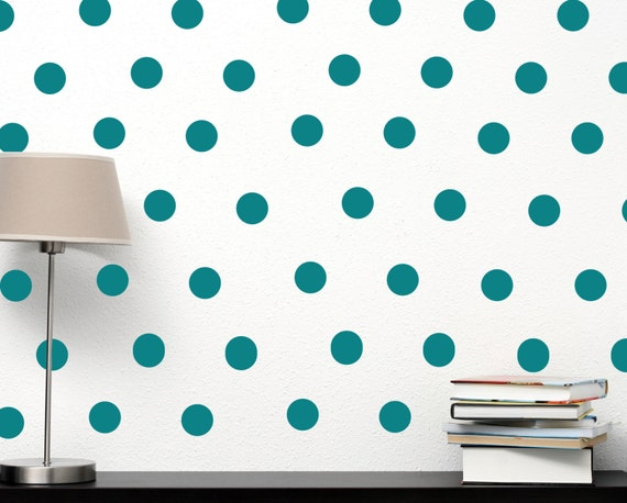 Polka dot wall decal chic home decor fashion by for Polka dot decorations for bedrooms
