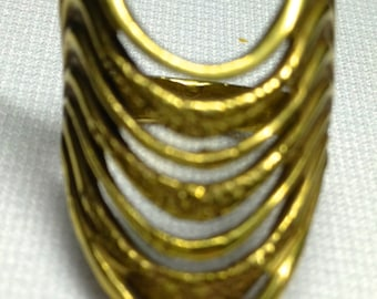 The Artful Drape Solid Brass Ring