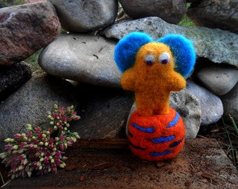 Needle Felted Monster Animal Felted Monster Wool Monster Felt Toy Monster Christmas Gift Monster