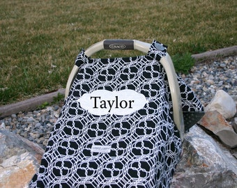 Boys carseat cover, carseat Canopy or cover Embroidered, comes with matching everything, Appliqued, Monogrammed