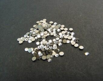 Swarovski Rhinestones for Nails ss4 Crystal Clear 1.6mm Flatback Rhinestones Nail Art Nail Tools [144 pcs]