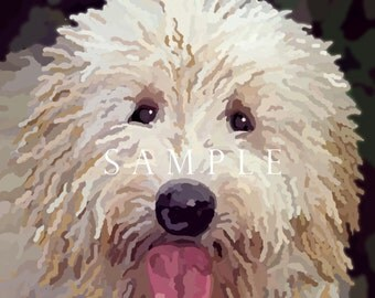 Labradoodle Golden Doodle Painting Signed Prints & YOUR PET HERE