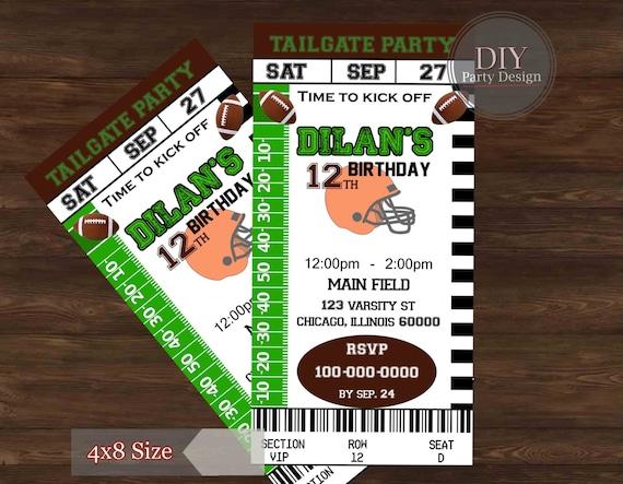 Football ticket birthday invitation tailgate party football football ticket birthday invitation tailgate party filmwisefo