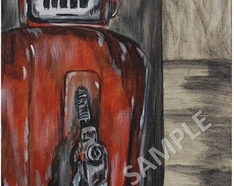 Rusty Gas Pump Art Print