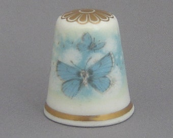 Spode Thimble - Dandelion Clocks and Butterflies