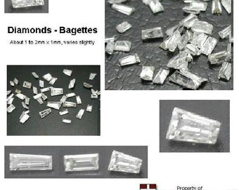 3 Set of 1 to 2mm Natural Loose Diamond Gemstone Baguettes for Jewelry Repair & Collectible Investment