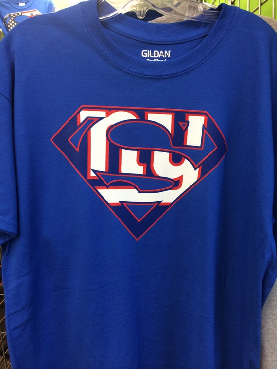 Women 39 S New York Giants Inspired Superman Tshirt By