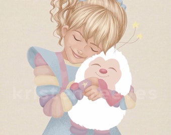 "8x10 ""Rainbow Brite and Twink"" Children's Wall Art Print - Nursery Art Room Decor"