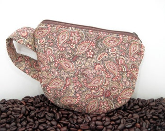 Coffee Cup Pouch - Tea Cup Pouch - Fun Zipper Pouch - Coffee Lover - Gift Card Holder