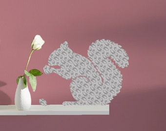 The Nutty Squirrel Wall Decal