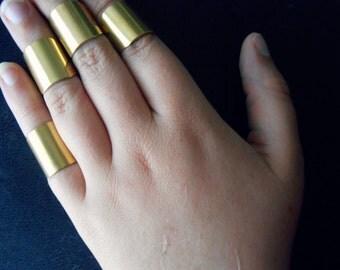 djinni shackle midi ring - handmade brass armor midi ring - edgy boho festival fashion