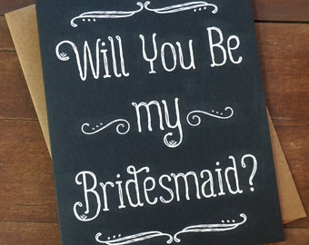 Will You Be My Bridesmaid Card Bridesmaid Proposal Card Bridal Party Gifts Asking Bridesmaid Invitation Sister in Law Bridesmaid Sister Gift