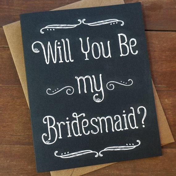 Will You Be My Bridesmaid Card Bridesmaid Invitation Bridal Party Gifts Asking Bridesmaid Proposal Sister in Law How to ask a Bridesmaid Set