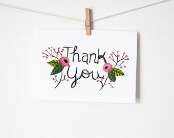 Thank You Printable Greeting Card - Instant Download - PDF