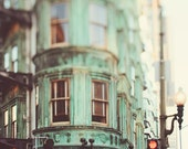 Zoetrope - San Francisco Photography Print, California, Architecture Print, Green, Large Wall Art, Cafe Photo, Sentinel Building