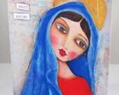 Suzi Blu Card Set Cherish Your Mother Virgin Mary Portrait