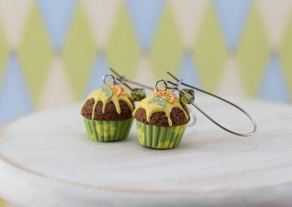 Citrus Cupcake Earrings