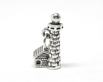Lighthouse Sterling Silver 3D Pendant Charm Customize no. 1850