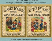 Instant Download - Printable Farmhouse Labels - Little Patriot Yankee Doodle - Digital PDF or JPG File