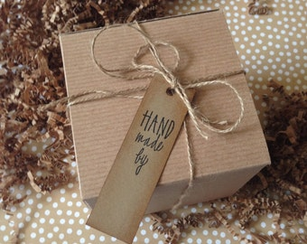 Handmade by Package tags craft party birthday weddings handmade thank you packaging supplies