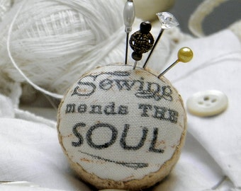 Sewing Mends the Soul, Pincushion Ring