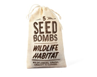 Seed Bombs - Sustainable Wildlife Habitat Mix for Birds, Butterflies, Bees, Rabbits, Deer, and Other Backyard Mammals