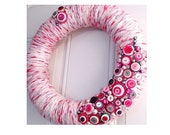 Yarn Wreath - Rosa Gris