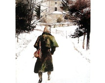 Andrew Wyeth Print - Loden Coat - 1987 Vintage Book Page - 9.5 x 11
