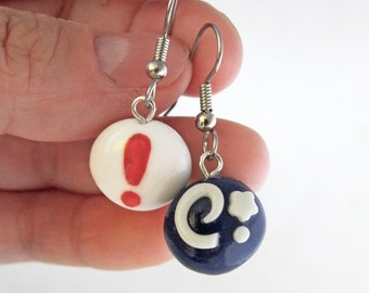 Animal Crossing Fossil and Pitfall Seed Video Game Earrings