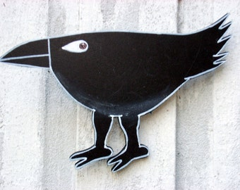 Raven totem for the wall