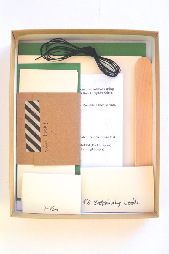 Diy Soft Cover Book Binding ~ Diy bookbinding kit in teal black make basic soft