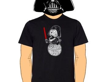 Calavera Vader Black Mens T-Shirt S, M, L, XL, XXL, XXXL