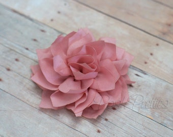 Rose Flower Hair Clip - Lotus Blossom - With or Without Rhinestone Center