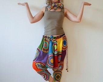Plus size clothing Women's pants Plus size pants Bohemian pants Harem pants Costume Clothing  Hippie Pants Yoga Pants  Meditation Pants
