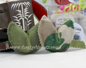 Organic Catnip toys, Camouflage and Sage Green Fortune Cookies in Box, set of 2