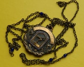 1960s School Record Diving Vintage Medal Necklace
