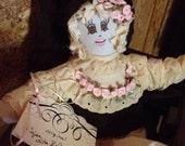 SALE - SALE Original Sha Bebe Cloth Doll Made by Cajun Doll Artist, Mary Lynn Plaisance in  Louisiana. Art doll collectibles ~!!!