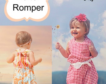 Make This Cute Beach Comber Halter Romper With This Whimsy Couture Sewing Pattern PDF -- many sizes Instant Download