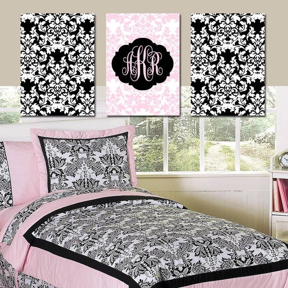 pink black wall art bedroom pictures canvas or prints by