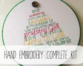 hand embroidery complete KIT: Luke 2 Christmas Tree
