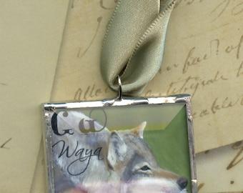 Waya Wolf - Cherokee Language Series Ornament