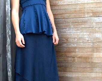 Organic Cotton & Hemp Long Wrap Skirt