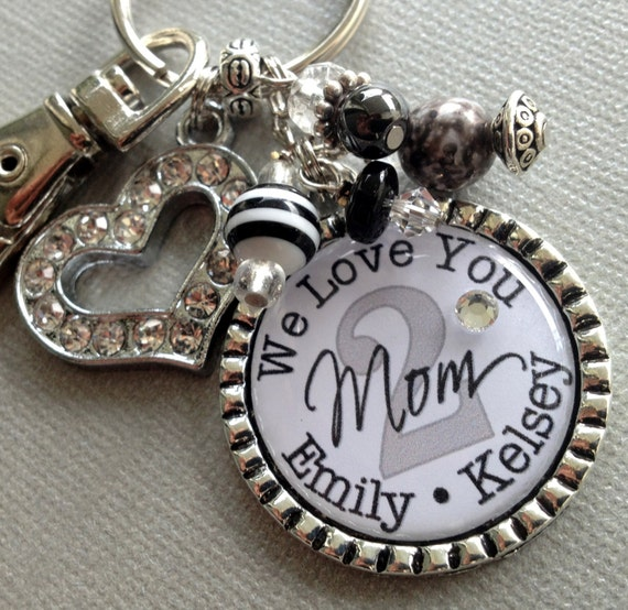 Grandma jewelry, Mom jewelry, We Love You, Valentine gift, Grandmother Necklace, Grandma Birthday Gift, rhinestone heart, grandma gift